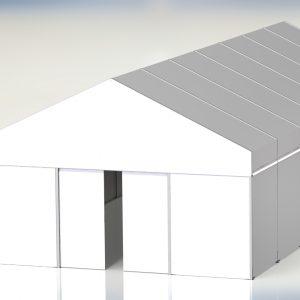 Ściany oraz dach z materiału PCV